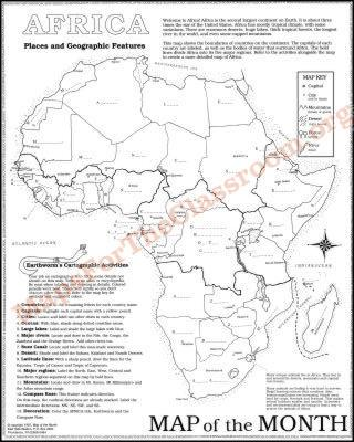 map of african countries with capitals. Africa Map