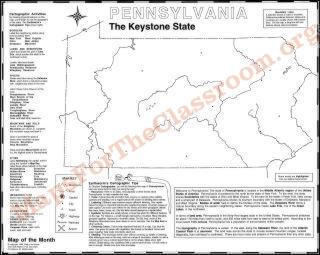 Pennsylvania Map  Maps For The Classroom